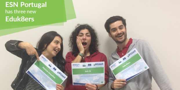 3 new Eduk8ers from ESN Portugal